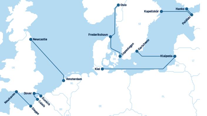 DFDS Routen
