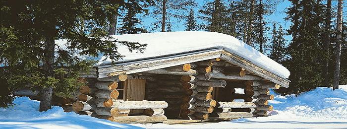 Blockhaus Wochenende in Lappland
