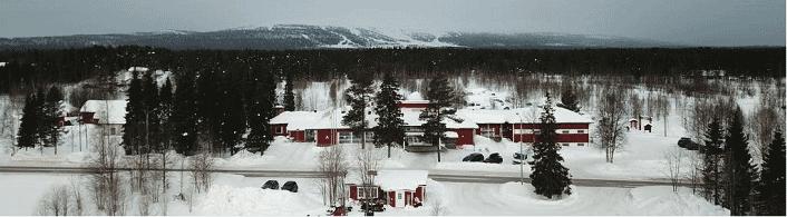 Weihnachten im Lake Hotel in Lappland