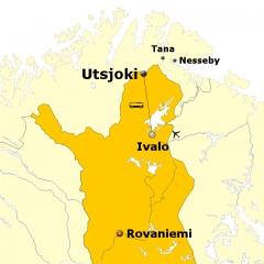 Silvester in Nord Finnland Utsjoki
