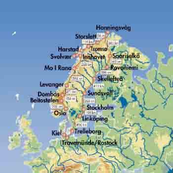 Pkw-Rundreise Mitternachtsonne und Nordkap