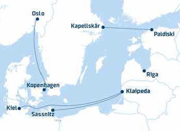 Fähre nach Litauen ab Kiel nach Klaipeda