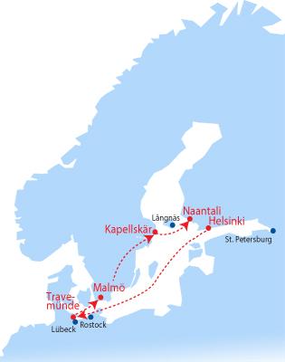 Finnlines Rundreise Karte