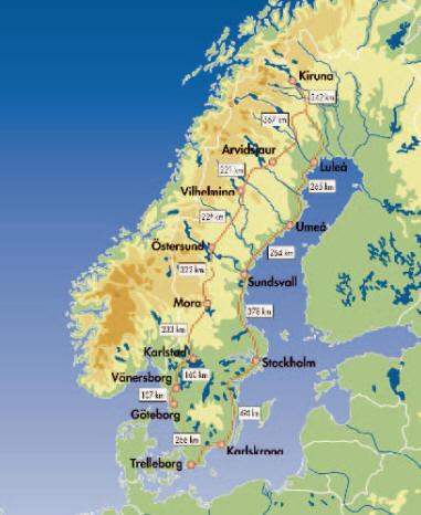 grosse Schwedenrundreise mit Pkwrundreise