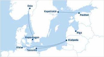 Fährverbindungen von DFDS