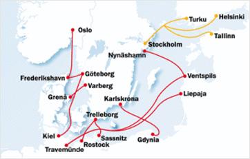 Karte Stena Line