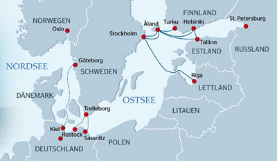 Fähren Tallink Silja nach Stockholm und Helsinki