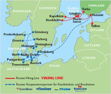Karte Viking Line