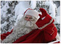 Besuch beim Weihnachtsmann Finnland